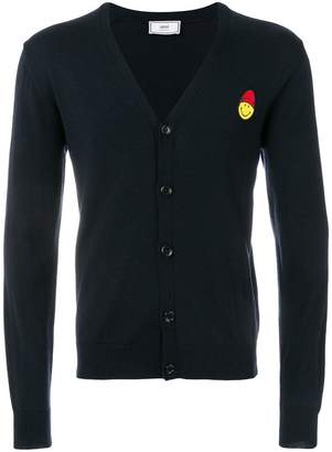 Ami Alexandre Mattiussi Cardigan Smiley Chest Patch