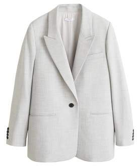 MANGO Flecked structured blazer