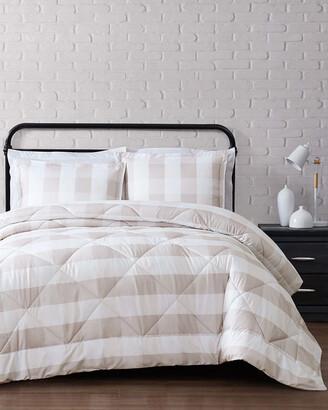 Buffalo David Bitton Truly Soft Everyday Plaid Khaki Comforter Set
