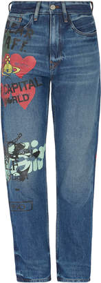 Vivienne Westwood Anglomania Skytte Jeans Meaningless Blue Denim- 26