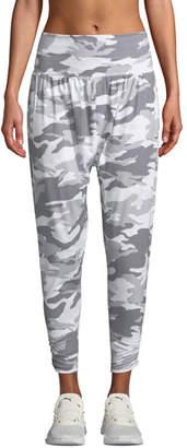 Onzie Camo-Print Activewear Harem Pants