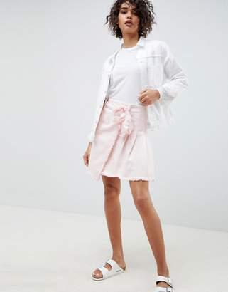 WÅVEN Tilda Mini Skirt With Tie Side