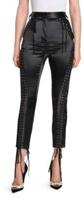 Dolce & Gabbana Satin Lace-Up Pants