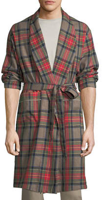 Fear Of God Open-Front Plaid Wool Robe