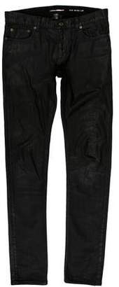 Saint Laurent Wax-coated Skinny Jeans