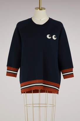 Anya Hindmarch Eyes rayon sweatshirt