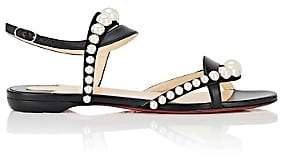 Christian Louboutin Women's Galeria Leather Sandals-Black