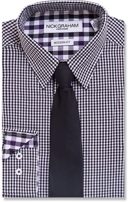 Nick Graham Men's Everywhere Modern-Fit Dress Shirt and Tie Boxed Set