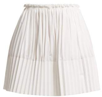 Chloé Pleated Cotton Mini Skirt - Womens - White