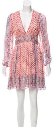 Ulla Johnson Long Sleeve Silk Floral Print Dress
