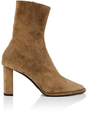 The Row Women's Tea Time Suede Ankle Boots - Kaki Green