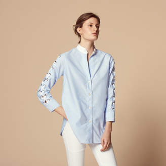 Sandro Cotton shirt with laced sleeves