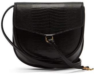 Saint Laurent Datcha Lizard Effect Leather Cross Body Bag - Womens - Black