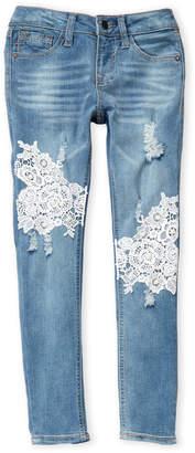 Vigoss Girls 7-16) Lace The Austin Ankle Skinny Jeans