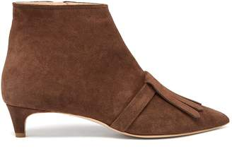 Rupert Sanderson Snowbell point-toe suede ankle boots