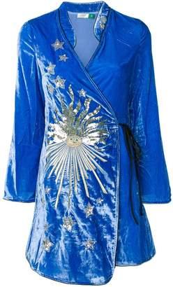 DAY Birger et Mikkelsen Rixo London embellished wrap dress