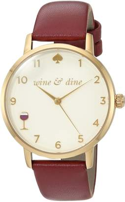 Kate Spade Women's 'Metro' Quartz Stainless Steel and Leather Casual Watch, Color:Red (Model: KSW1188)