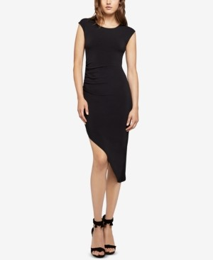 BCBGeneration Asymmetrical Ruched Sheath Dress