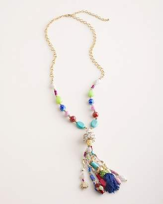 Chico's Chicos Colorful Seed Bead Tassel Y-Necklace