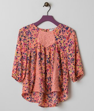 Girls - Fire Floral Top $32 thestylecure.com