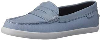 Cole Haan Women's Pinch Weekender Loafer Flat Blue Canvas/Chambray