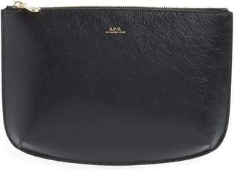 A.P.C. Sarah Leather Clutch