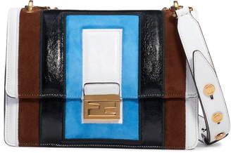Fendi Kan U Colorblock Lambskin Shoulder Bag