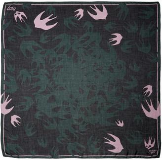 McQ Alexander McQueen Green Swallow Swarm Scarf $150 thestylecure.com