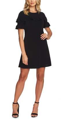 CeCe Ruffle Detail Short Sleeve Dress