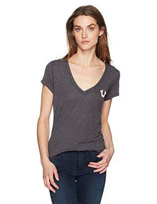 True Religion Women's Buddha Vneck Tee
