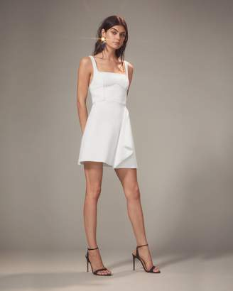 Dion Lee Bustier-Look Ivory Mini Dress