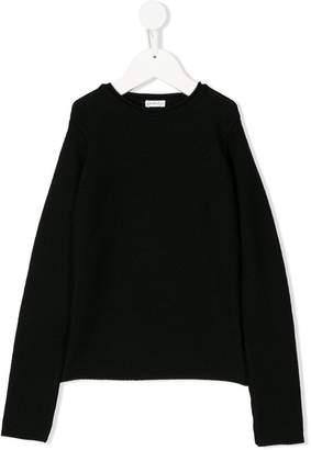 Piccola Ludo ribbed V-neck sweater