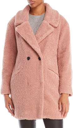 Lucky Brand Teddy Bear Textured Coat
