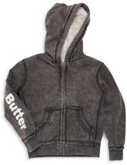 Little Girl's Mineral Wash Reversible Hoodie $98 thestylecure.com