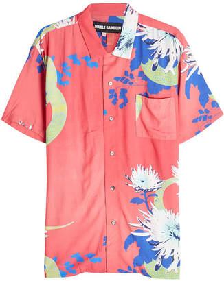 Double Rainbouu Short Sleeved Hawaiian Shirt