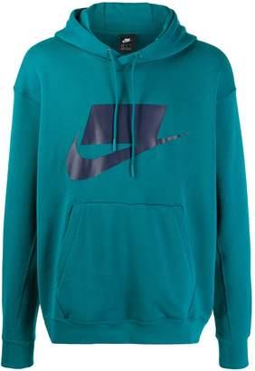 Nike contrast logo hoodie