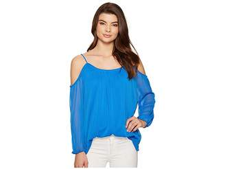 Kensie Crinkle Chiffon Top KS5K4302 Women's Clothing