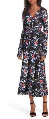 Diane von Furstenberg Polka Dot Silk Wrap Dress