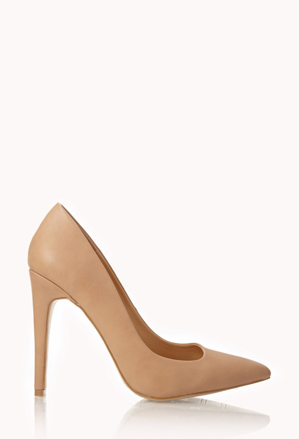 Forever 21 Sleek Asymmetrical Stiletto Pumps
