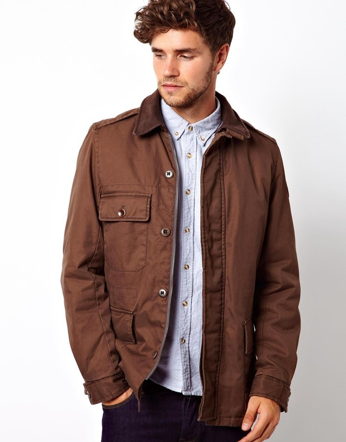 Paul Smith Jeans Field Jacket With Cord Collar