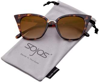 05fe0029e9 Cat Eye SojoS Brand Designer Sunglasses Fashion UV400 Protection Glasses  SJ2052 with Blue Tortoise Frame