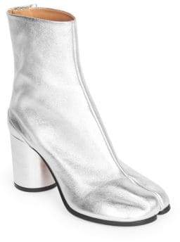Maison Margiela Metallic Split Toe Booties