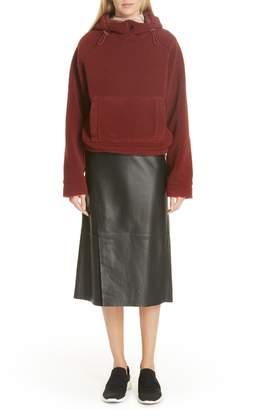 Vince Slit Leather Skirt