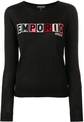 Emporio Armani logo jumper