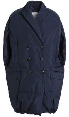 Brunello Cucinelli Double-Breasted Quilted Shell Down Vest