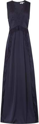 Reiss Our last order date for Christmas has now passed ODETTE LACE DETAIL MAXI DRESS Navy