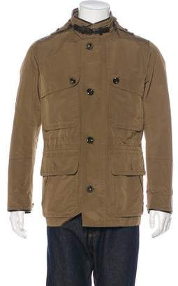 Tom Ford Leather-Trimmed Field Jacket