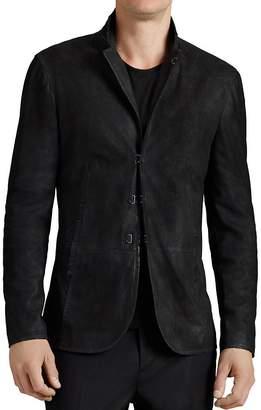 John Varvatos Collection Suede Hook And Bar Slim Fit Jacket