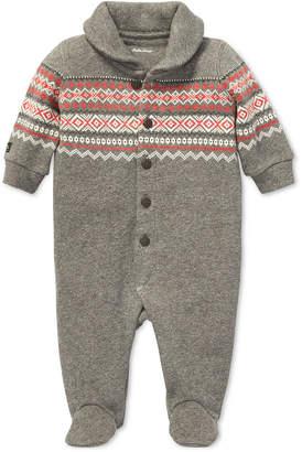 Polo Ralph Lauren Baby Boys Fair Isle Cotton Coverall