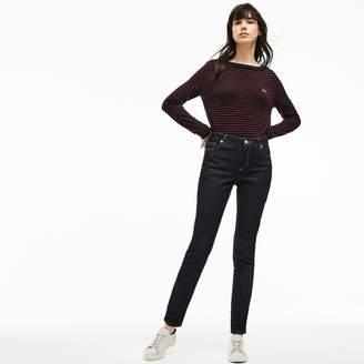 Lacoste Women's Slim Fit Stretch Cotton Denim Jeans